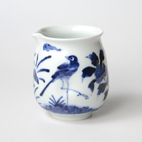 「No.43 花鳥文片口  /   Lipped bowl with flower and bird design, Sometsuke」の写真 その1