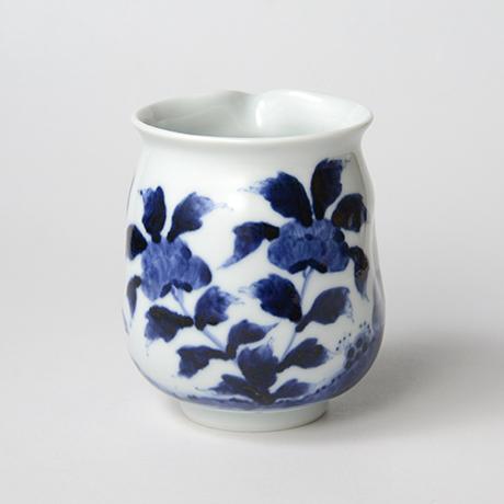 「No.43 花鳥文片口  /   Lipped bowl with flower and bird design, Sometsuke」の写真 その2