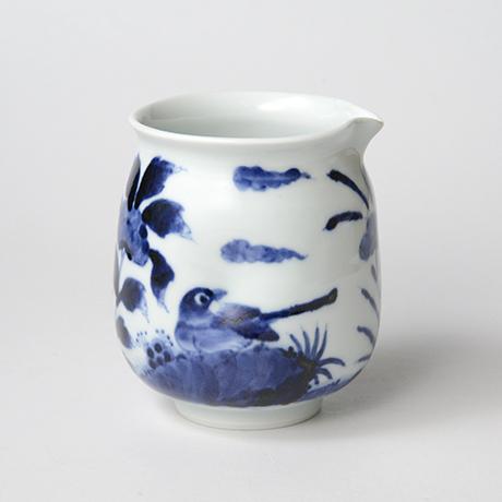 「No.43 花鳥文片口  /   Lipped bowl with flower and bird design, Sometsuke」の写真 その3