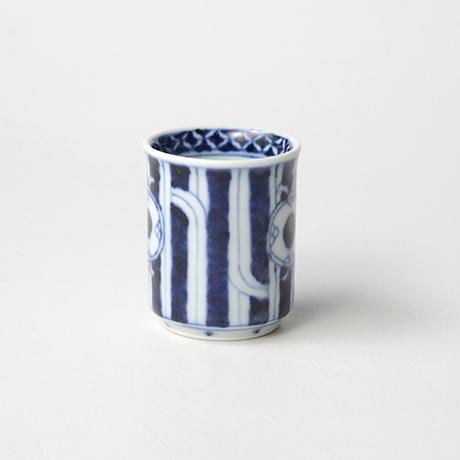 「No.53 鼓文筒ぐい吞 /   Sake cup with drum design, sometsuke」の写真 その2