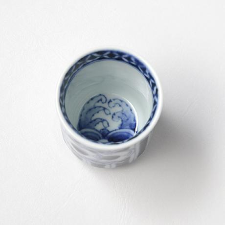 「No.53 鼓文筒ぐい吞 /   Sake cup with drum design, sometsuke」の写真 その3