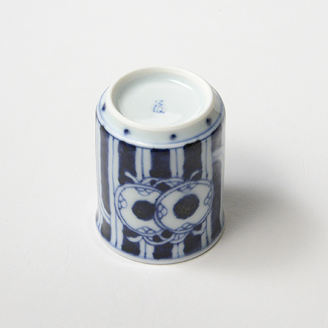 「No.53 鼓文筒ぐい吞 /   Sake cup with drum design, sometsuke」の写真 その4