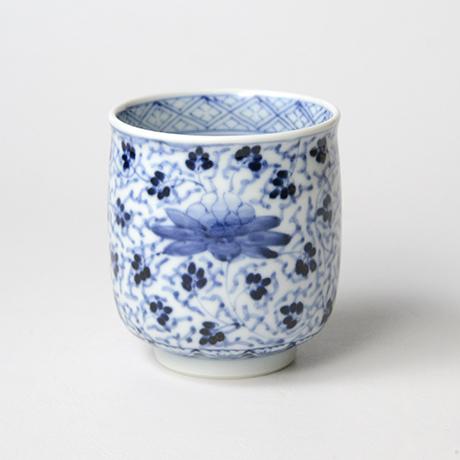 「No.62 花唐草文湯呑 /   Tea cup with floral arabesque design, sometsuke」の写真 その1