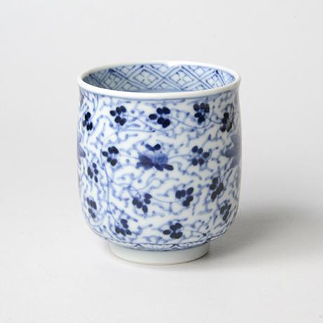 「No.62 花唐草文湯呑 /   Tea cup with floral arabesque design, sometsuke」の写真 その2