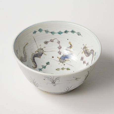 "「No.8 色絵鉢 「なまずとこどもの図」 Bowl, Iro-e,  ""Catfish and their children""」の写真 その1"