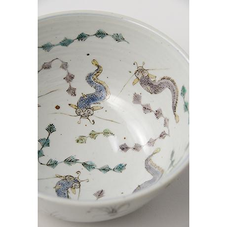 "「No.8 色絵鉢 「なまずとこどもの図」 Bowl, Iro-e,  ""Catfish and their children""」の写真 その5"