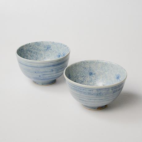 「No.9 染付汲出碗 六 A set of six tea cups, Sometsuke」の写真 その1