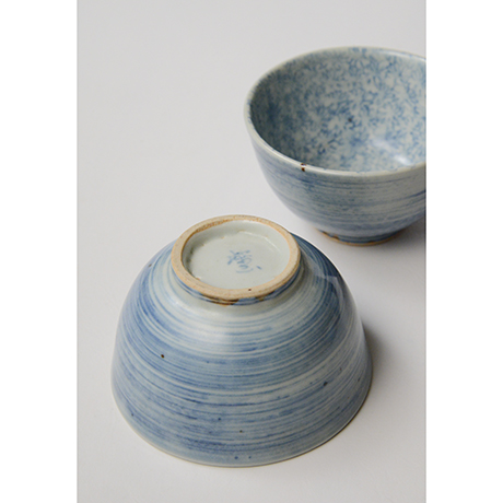 「No.9 染付汲出碗 六 A set of six tea cups, Sometsuke」の写真 その4