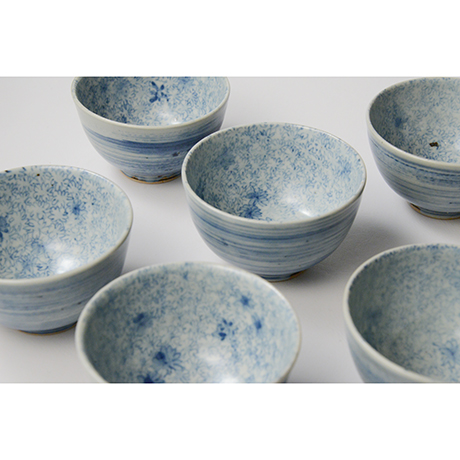 「No.9 染付汲出碗 六 A set of six tea cups, Sometsuke」の写真 その5