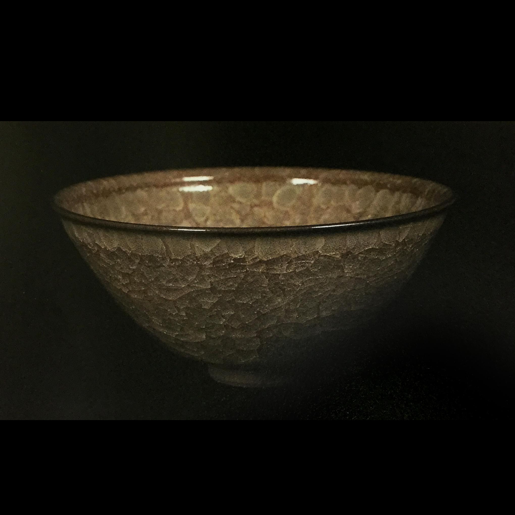 窯変米色瓷盌