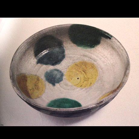 銀彩マルモン平鉢