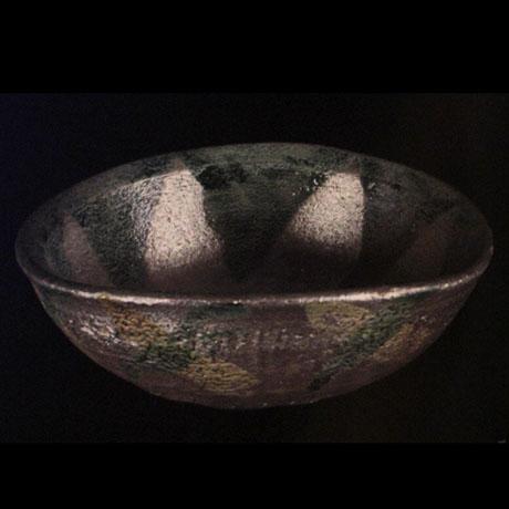 銀彩雁木文鉢