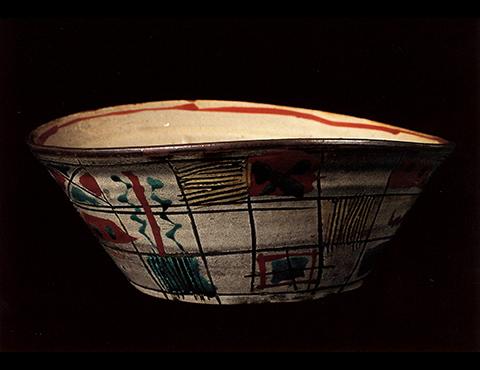 琉球窯赤絵鉢