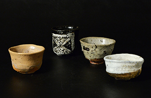双頭ノ酒器展 Exhibition of Bizen Tokuri & Karatsu Guinomi