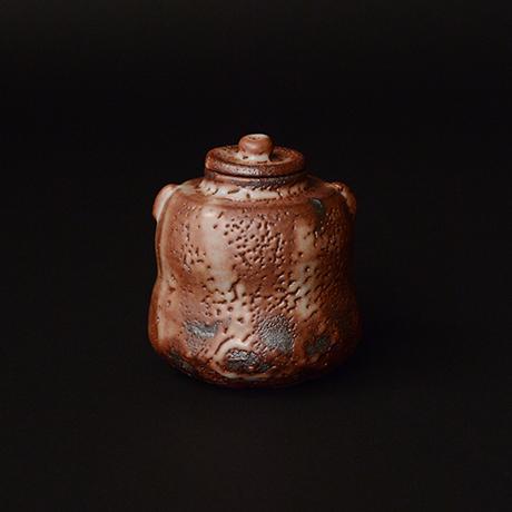 「No.19 紫志野茶入 / Tea caddy, Murasaki-shino」の写真 その1