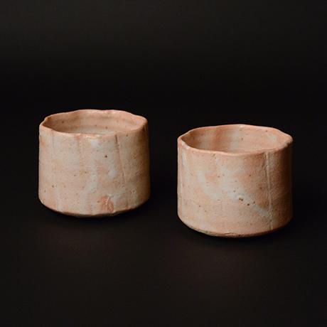 「No.51 志野輪花向付 六客 / A set of 6 bowls, Shino」の写真 その1
