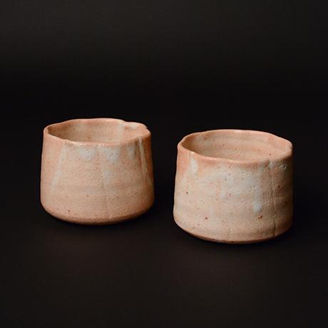 「No.51 志野輪花向付 六客 / A set of 6 bowls, Shino」の写真 その3