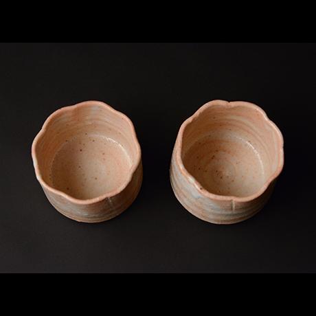 「No.51 志野輪花向付 六客 / A set of 6 bowls, Shino」の写真 その4