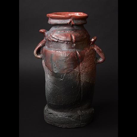 「No.13 耀変辰砂花入 / Flower vase, Shinsha, Yohen」の写真 その1