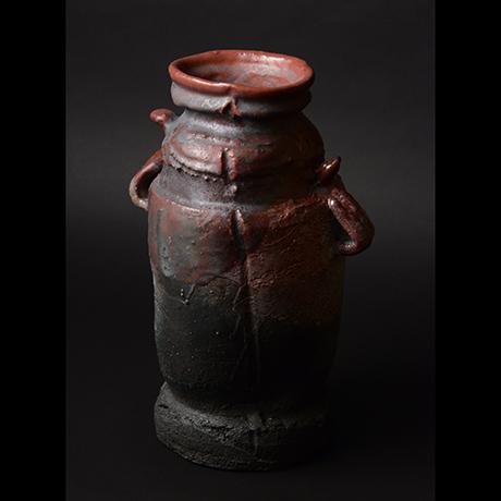 「No.13 耀変辰砂花入 / Flower vase, Shinsha, Yohen」の写真 その4