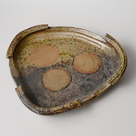 「No.50(図25) 備前三角鉢   Platter, Bizen, Triangular shaped」の写真 その2