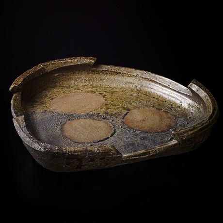 「No.50(図25) 備前三角鉢   Platter, Bizen, Triangular shaped」の写真 その1