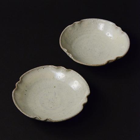 「No.S-22 斑唐津皿 五 / A set of 5 plates, Madara-karatsu」の写真 その1