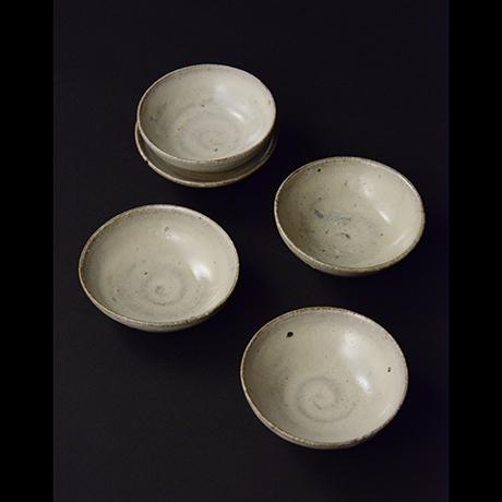 「No.S-26 斑唐津豆皿 五 / A set of 5 small plates, Madara-karatsu」の写真 その1