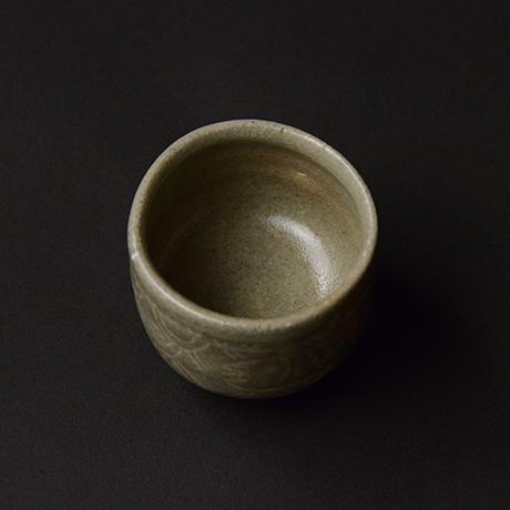 「No.163 魚文盃 Sake Cup, fish motif」の写真 その2