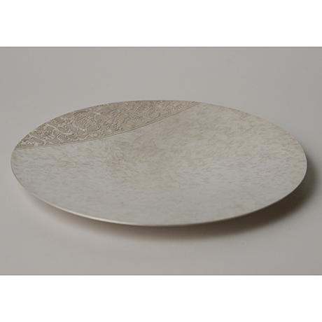 「No. 25 南鐐唐草文菓子器  / Plate, arabesque, silver」の写真 その3