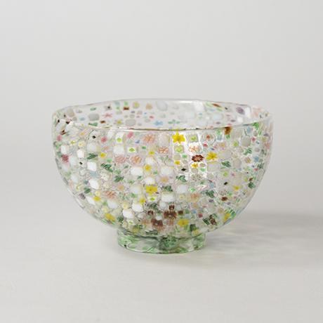 「HP6 江波冨士子 茶碗 花の庭 / ENAMI Fujiko Chawan」の写真 その1