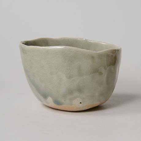 「No.128 青林檎茶碗 Chawan, apple shape」の写真 その1