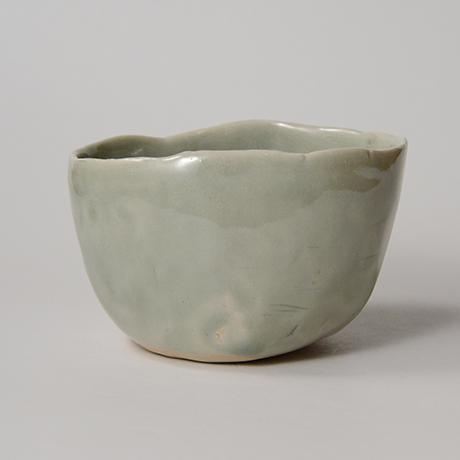 「No.128 青林檎茶碗 Chawan, apple shape」の写真 その2