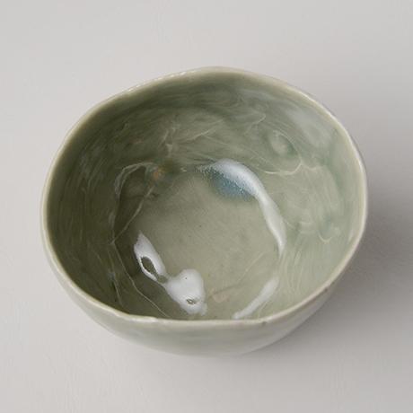 「No.128 青林檎茶碗 Chawan, apple shape」の写真 その3