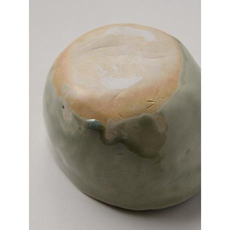 「No.128 青林檎茶碗 Chawan, apple shape」の写真 その4