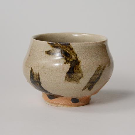 「No.135 鉄画塩笥茶碗 Chawan, shioge-style with iron painting」の写真 その1