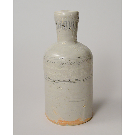 「No.142 粉青沙器花入 Flower vase, underglaze iron on white slip, Buncheong」の写真 その1