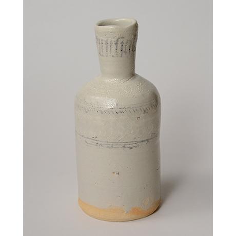 「No.142 粉青沙器花入 Flower vase, underglaze iron on white slip, Buncheong」の写真 その2