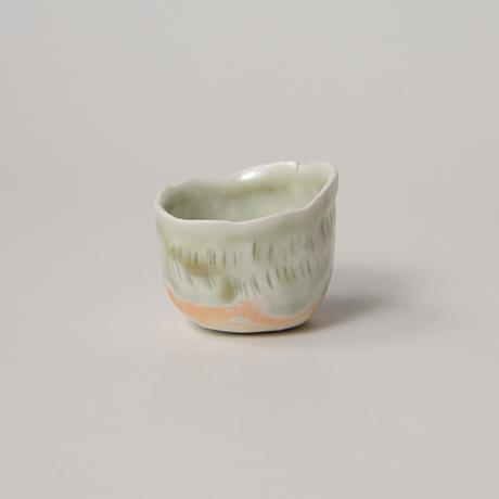 「No.27 縄文白瓷杯 Sakazuki, white porcerain, Jomon-style」の写真 その1