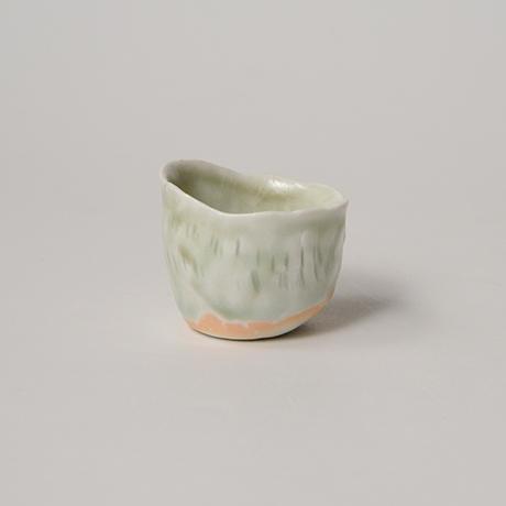「No.27 縄文白瓷杯 Sakazuki, white porcerain, Jomon-style」の写真 その2