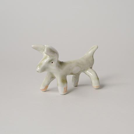 「No.68 白瓷の動物 Artwork, animal shape, white porcelain」の写真 その1