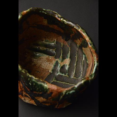 """「No.12 赤織部茶碗  銘「獅子舞」 / Tea bowl, Aka-Oribe """"SHISHIMAI""""」の写真 その6"""