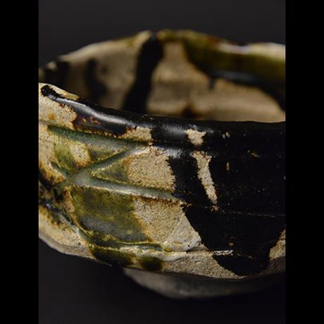 "「No.14 黒織部茶碗 銘「八咫烏」/ Tea bowl, Kuro-Oribe ""YATAGARASU""」の写真 その8"