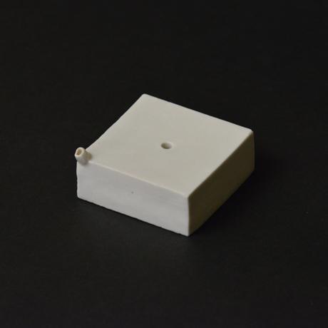 「No.56-1 トーフ型水滴 / Water droplet, White porcelain」の写真 その1