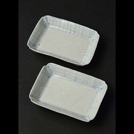 「No.8 染付平向付  大 六 / A set of 6 plates, Sometsuke」の写真 その2