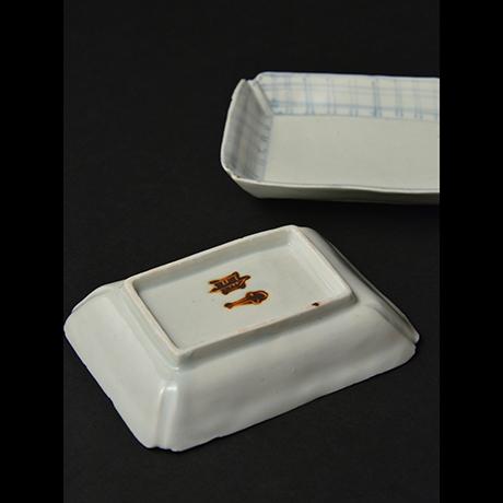「No.8 染付平向付  大 六 / A set of 6 plates, Sometsuke」の写真 その4