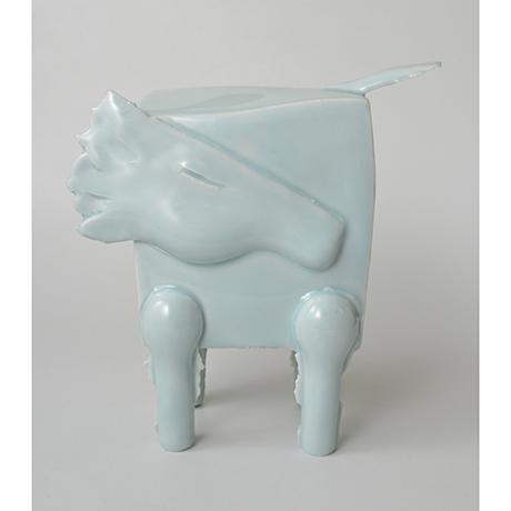 「No.2 鈴木治 青白瓷 馬 / SUZUKI Osamu Artwork 'Horse', Bluish white porcelain」の写真 その1