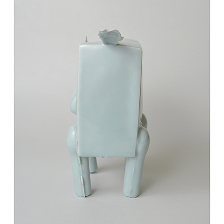 「No.2 鈴木治 青白瓷 馬 / SUZUKI Osamu Artwork 'Horse', Bluish white porcelain」の写真 その2