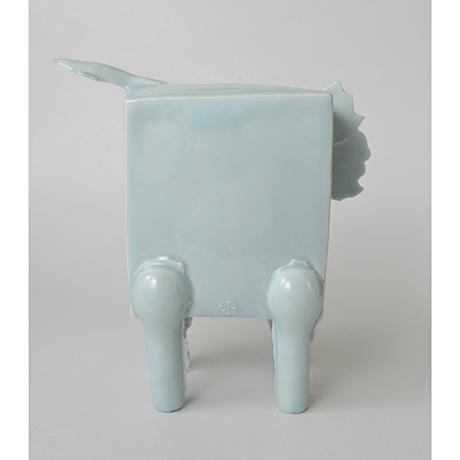 「No.2 鈴木治 青白瓷 馬 / SUZUKI Osamu Artwork 'Horse', Bluish white porcelain」の写真 その3
