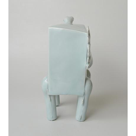 「No.2 鈴木治 青白瓷 馬 / SUZUKI Osamu Artwork 'Horse', Bluish white porcelain」の写真 その4